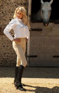 Rhinegold Womens Leather Half Horse Riding Chaps   Equestrian Clothing