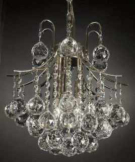 FRENCH EMPIRE CRYSTAL CHANDELIER LIGHTING SILVER FIXTURE PENDANT