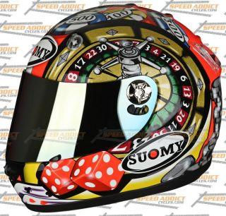 Suomy Vandal Atlantic City Gambler Full Face Motorcycle Helmet Small