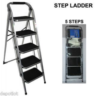 listed KITCHEN HOME STEPSTOOL LADDER STOOL STEPLADDER / 5 STEP STOOLS