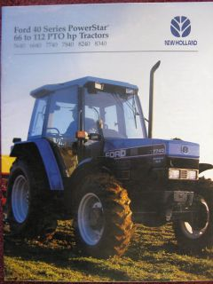 Ford New Holland 5640 6640 7740 7840 8240 8340 Tractor Sales Brochure