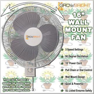PK 16 WALL MOUNT FAN Mountable Oscillating Hydroponics Grow air