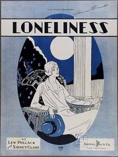 Sheet Music POLLACK AND CLARE Sad Pretty Girl Moon Wicker Chair
