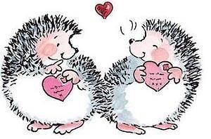 Penny Black Rubber Stamp A BRUSH WITH LOVE Hedgy Heart Hedgies 2293j