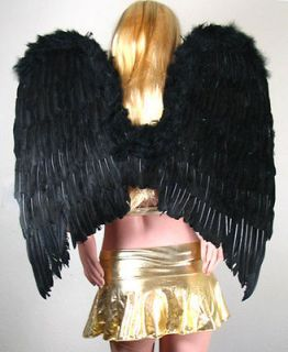 Large Black Feather Fallen Angel Wings Halloween HALO Costume Cosplay