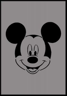mouse face stencil, airbrush stencils, painting reusable wall stencil