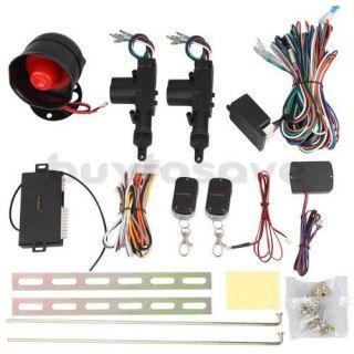 Door Remote Keyless Entry Central Lock Locking Kit + Car Alarm