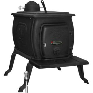 US Stove Company 2421 Heavy Duty Cast Iron Wood Stove 94000 BTU (1600