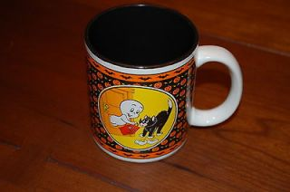 Vintage Casper The Friendly Ghost Coffee cup mug 1986 Halloween with