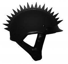 Biker Motorcycle Helmet Spikes   WARHAWK SPIKE STRIPS   Uneven Blade