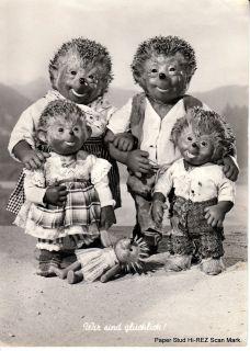 Mecki Hedgehog Steiff toy Happy Family Beach Doll Family CUTE Kids
