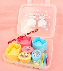 HELLO KITTY Rice Mold + Dressing Case + Stencil Set A71