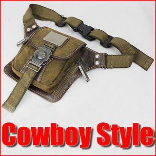 Mens Canvas Bumbag Hiking Satchel Shoulder Fanny Pack Belt Waist Bags
