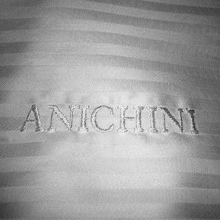 Egyptian Cotton Italian Made Anichini Twin XL Flat Sheet Brand New