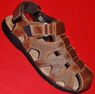 & BARROW MARTIN Brown Leather Casual Fisherman Sport Sandals Shoe