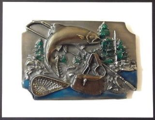 FLY FISHING BUCKLE 15395 fish sports western belt buckles
