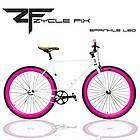 Fixed Gear Bike Fixie Bike Track Bicycle 52 cm w Deep Sprinkled Leo