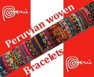 PERUVIAN WOVEN WOOL FRIENDSHIP BRACELETS ANDEAN BRACELETS FROM CUZCO