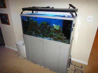 Delta Queen V 75 Gallon Rectangular Fish Tank Black with Aquarium Kit