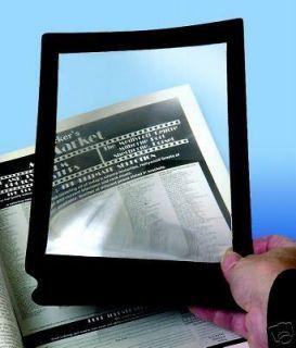 Large Flat Magnifying Sheet Fresnel Lens Magnifier Reading Glass