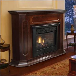 Gas Fireplaces Ventless Propane Natural Gas w/Fireplace Mantle Mantel