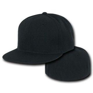 Flat Bill Plain Solid Blank Baseball Ball Cap Caps Hat Hats 7 SIZES