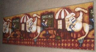 ... Fat Chef Carpet Runner Kitchen Decor Rug (22.4 X 71) Floor Mat ...
