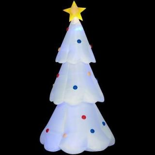 CHRISTMAS 8 FT REMOTE CONTROL COLOR CHANGING LIGHTS TREE AIRBLOWN