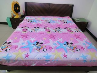 Mickey Minnie Mouse Double layered cover fitted sheet single queen bed