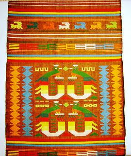 Beautiful Vintage 100% Cotton Table Runner Hand Woven by Indians in