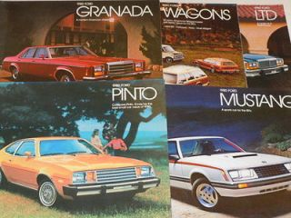 Newly listed 1980 Ford Brochure Lot Pinto Mustang Granada LTD and