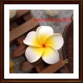 100 white Fabulous Hawaiian foam frangipani flowers wedding party