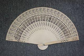Chinese Japanese folding Fan Flower Bamboo Hand  U.S. Seller