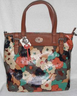 NWT Fossil KEY PER SHOPPER LARGE TOTE FLORAL DESIGN $128
