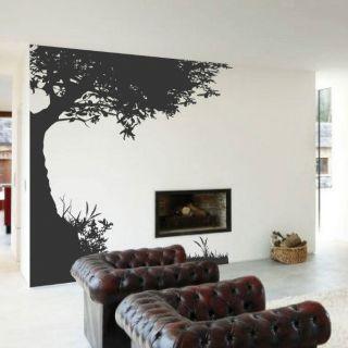 Tree Children Butterfly Nursery Art Wall Stickers / Wall Decals / Wall