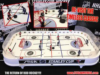 NEW Stiga NHL Stanley Cup Table Rod Hockey Game (NJ Devils vs. Maple