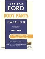 1944 1952 Ford Car & Truck Body Parts Catalog   Tudor