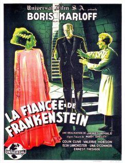 BRIDE OF FRANKENSTEIN Movie Poster Boris Karloff Universal Monster