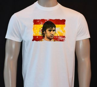 RAUL REAL MADRID SPAIN FOOTBALL LEGEND KIDS TSHIRT FB31