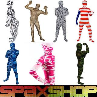 Full Body Spandex Lycra Suit Party Costumes Zentai Camo Patterns