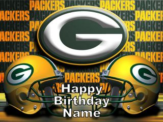 Green Bay Packers Football Edible Image Cake Topper   1/4 sheet size