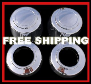 SETOF4 FORD TRUCK VAN 8LUG 16 Chrome Wheel Center Hub Caps Nut Covers