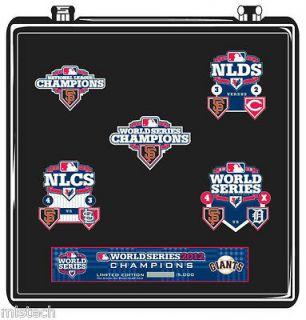 MLB San Francisco SF Giants World Series Champions 2012   5 Pin Set