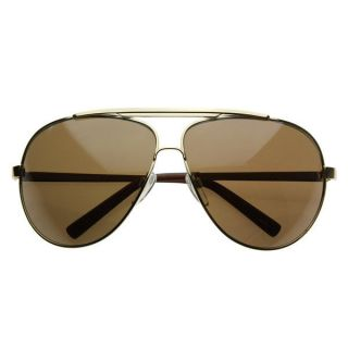 High Quality Full Frame Big X Large Oversized Metal Aviator Sunglasses