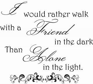 Friend Friendship Friends Quote Saying Wall Art Sticker Decal Best