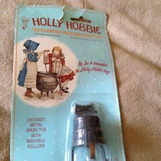 Holly Hobbie Old Fashioned Die Cast Metal Wash Tub VINTAGE NIB