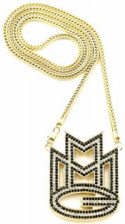 Iced Out New MMG Maybach Music Group Pendant Necklace Chain Rick Ross