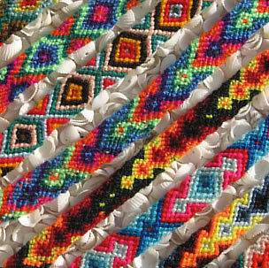 100 PERUVIAN CUSCO FRIENDSHIP BRACELETS WOVEN WOOL WHOLESALE LOT