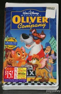 Disneys Masterpiece Oliver & Company VHS NEW & SEALED