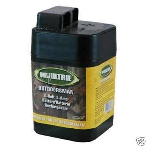 MFH SRB6  Six Moultrie 6 Volt Batteries For Deer Feeders & Hog